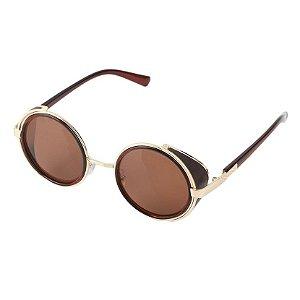 Óculos Sol Redondo Marrom Blinder Retrô Vintage Lennon Ozzy 5d4784ab25