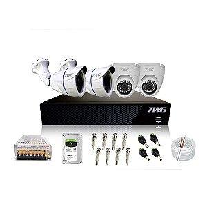 Kit TWG 4 Câmeras + DVR 4 Canais 5 em 1