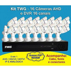 Kit TWG 16 Câmeras + DVR de 16 Canais 5 em 1