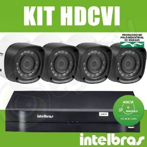 Kit Intelbras 4 Câmeras + DVR 4 Canais Multi HD