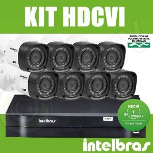Kit Intelbras 8 Câmeras + DVR 8 Canais Multi HD