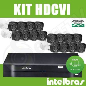 Kit Intelbras 16 Câmeras + DVR 16 Canais Multi HD