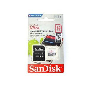 Cartão Memoria 32GB Sandisk Micro Sd Ultra