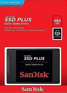 SSD SANDISK 480GB PLUS 2.5´ SATA III 6GB/S - SDSSDA-480G-G26