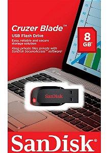 Pen Drive 8GB Cruzer Blade Sandisk USB 2.0  SDCZ50-008G-B35