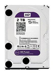 HD WD SATA 2TB 3,5´ Purple Surveillance  IntelliPower 64MB Cache SATA 6.0Gb/s - WD20PURZ