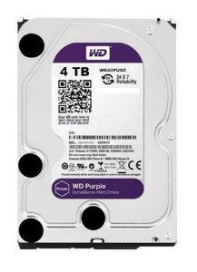HD WD SATA 4TB 3,5´ Purple Surveillance  IntelliPower 64MB Cache SATA 6.0Gb/s - WD40PURZ