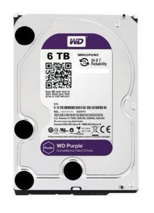 HD WD 6TB SATA 3,5´ Purple Surveillance  IntelliPower 64MB Cache SATA 6.0Gb/s - WD60PURZ