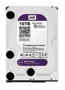 HD WD 10TB SATA 3,5´ Purple Surveillance  5400RPM 256MB Cache SATA 6.0Gb/s - WD100PURZ