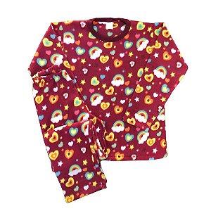 Pijama Infantil Soft CORACOES ARCO-IRIS