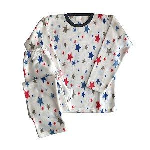 Pijama Infantil Soft ESTRELAS BRANCO