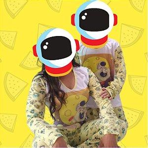 Kit 2 Pijamas Mãe e Filho Space