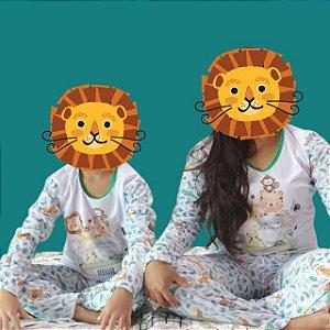 Kit 2 Pijamas Mãe e Filho Dinos