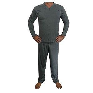 Pijama Papai Cinza Chumbo