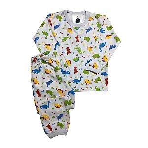 Pijama Flanela Punho DINOS SUPER COLOR