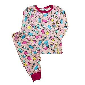 Pijama Infantil Manga Longa SLIM SORVETES