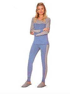 Pijama Feminino Jogging Azul