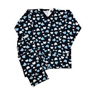 Pijama Flanela MICKEY MARINHO