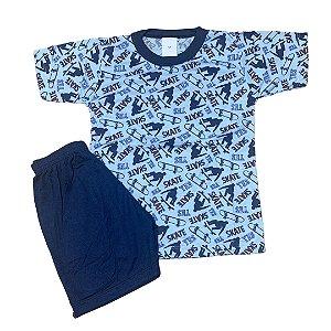 Pijama Infantil Malha Fria SKATE