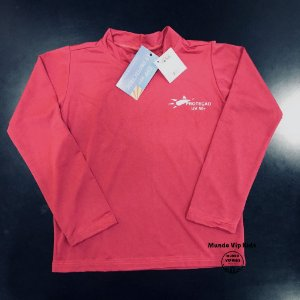 Camiseta Infantil Proteção Solar UPF 50+ Rosa Fucsia