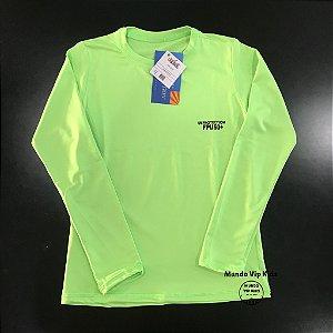 Camiseta Infantil Proteção Solar UPF 50+ Amarela Fluorescente