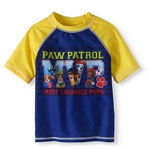 Camiseta Infantil Proteção Solar Patrulha Canina