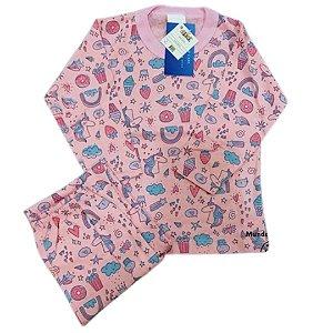 Pijama Infantil 100% Algodão ARCO-ÍRIS