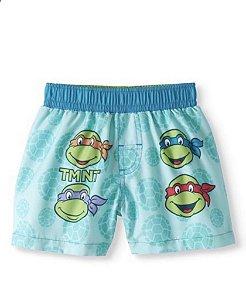 Short Infantil Proteção Solar Tartarugas Ninjas Importado