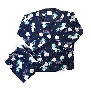 Pijama Infantil Soft UNICÓRNIOS MARINHO
