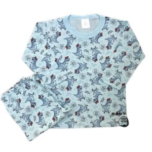 Pijama Infantil 100% Algodão DINOS SKATE