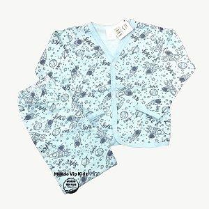 Pijama Flanela Botões SPACE