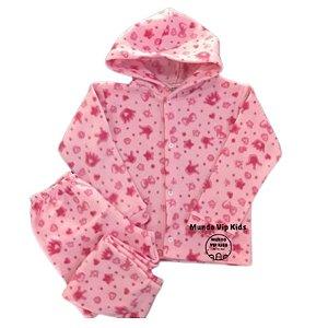 Pijama Infantil SOFT Capuz Punho COROAS