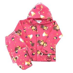 Pijama Infantil SOFT Capuz Punho URSINHOS