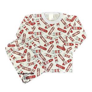 Pijama Infantil 100% Algodão SKATES