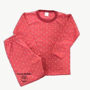 Pijama Infantil Soft POÁ VERMELHO