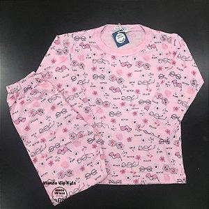 Pijama Infantil 100% Algodão LIFE IS BETTER