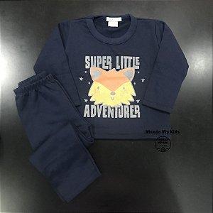 Conjunto Moletom Flanelado Super Little Adventurer
