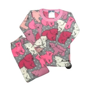 Pijama Infantil Soft URSOS COLOR ROSA