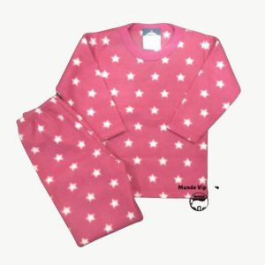 Pijama Infantil Soft ESTRELAS PINK