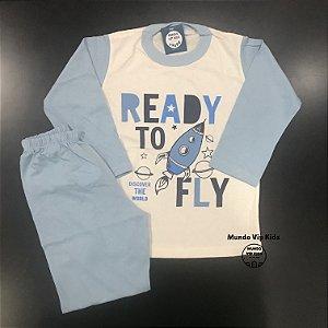 Pijama Infantil 100% Algodão READY TO FLY