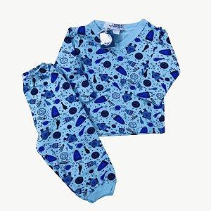 Pijama Flanela Baby Foguetes
