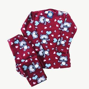 Pijama Infantil Soft GATINHOS CORAÇÕES