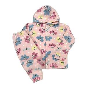 Pijama Infantil SOFT Capuz Punho BORBOLETAS