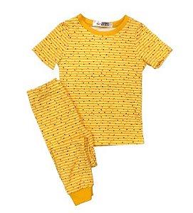Pijama Infantil SLIM POÁ AMARELO Manga Curta