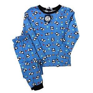 Pijama Infantil SLIM Pandas Manga Longa
