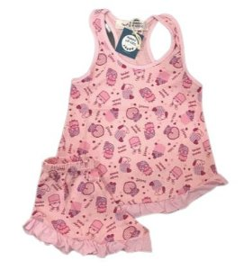 Pijama Infantil 100% Algodão Short Doll  TENDER FRIENDS