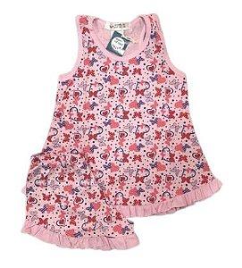 Pijama Infantil 100% Algodão Short Doll  BORBOLETAS