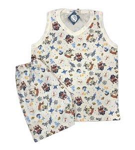 Pijama Infantil 100% Algodão Regata PIRATAS
