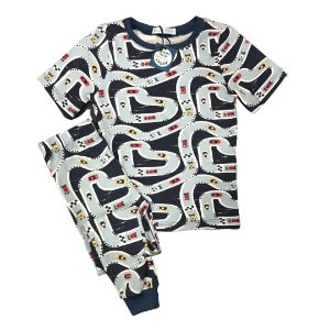 Pijama Infantil SLIM Pista Carros Marinho Manga Curta