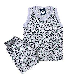 Pijama Infantil 100% Algodão Regata COOL DUDE